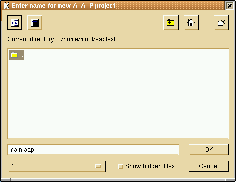 Create a project file selector
